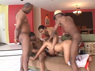 Many big black cocks for perfect white pussy