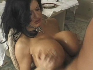 Amazing Big Tits Brunette Tits job