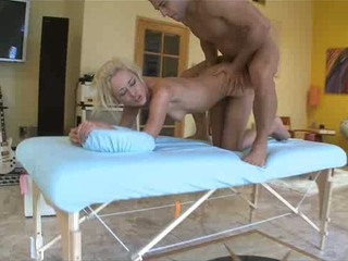 Blonde chick Rebecca Blue crashed from backside