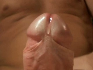 Cumshot upclose in slow motion