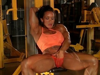 Ebony MILF Muscled Panty Sport
