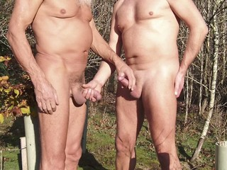 young and old wanking each other