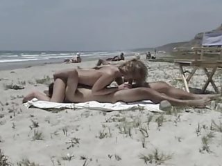 Amateur fucking at a nude beach