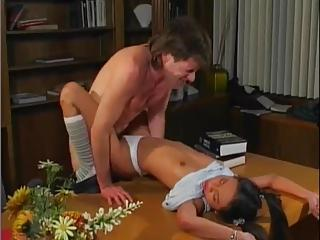 Petite Asian Teen Cocksucker Fucked On Desk