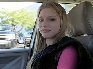 Amazing Blonde Car Student Teen