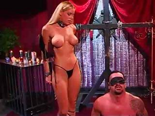 Blonde Mistress Is Abusing And Torturing Her Hapless Slave