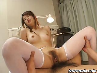 Asian Slut Gets The brush Harry Pussy Ravaged By A Great Big Cock!