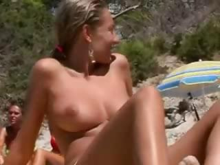 Voyeur Films A Natural Big Breasted Nudist Beach