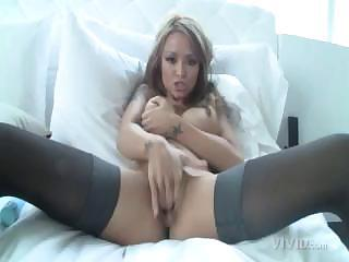 Busty Tea Tequila Puts On Her Best Sexy Underwear And Masturbates On Camera