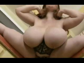 Large Brunette With Huge Boobs Gets Naked And Toys Her Pussy