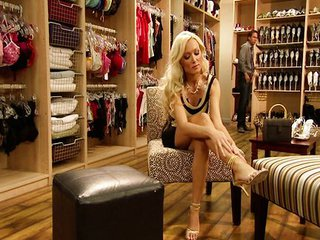 Lovely Blonde Diana Doll Chooses Shoes