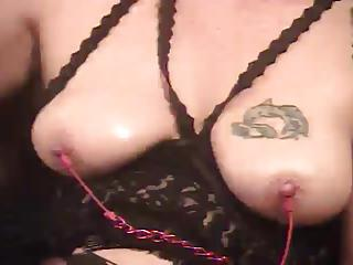 Nipple Pain For Amateur With Her Toy
