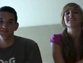 Spanish Lay Teen Couple Audition On Camera