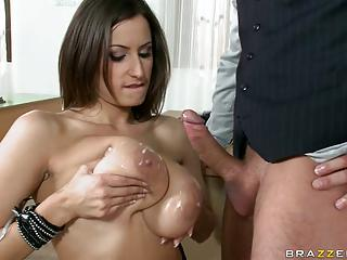 Sensual Jane Enjoy Tits Filled With Cum From Hard Cocks