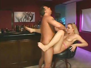 Horny Cocksucker Nailed In The Bar