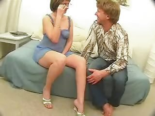 Sexy mature mother in glasses fucked hard