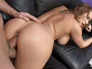 Thick Booty Babe Alanah Rae Takes A Hard Pole In Her Tight Pussy