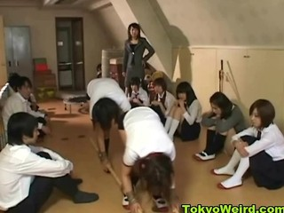 Naughty Asian Schoolgirls Spanked