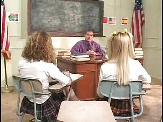 Schoolgirls On Eradicate affect Desk Having Teacher Sex