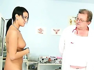 Carmen Pussy Speculum Detailed Gyno Exam By Kinky Old Doctor