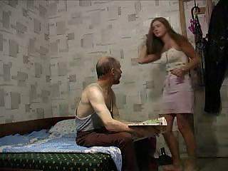 Stepfather Upskirt His Daughter Pink Skirt And Seduc...