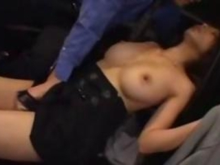 Busty Drunk Girl In Black Dress Getting Her Pussy Fi...