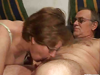 Glasses Mature Older Wife