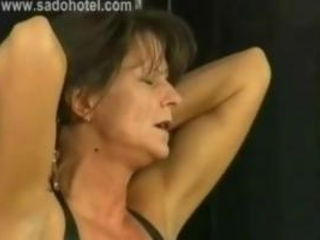 Beautiful Milf Slave Is Spanked And Got Large Metal...