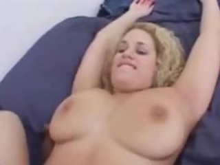 Blonde Curly Busty Interracial Fucked By Big Black C...