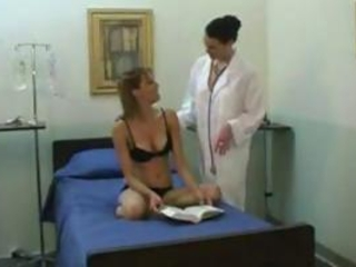 Young Girl Together with Mature Lesbian Doctor