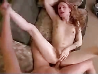 Stunning Shemale Fucked Till She Cums