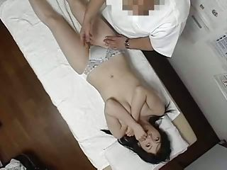 Asian bush in horny hands