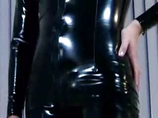 Ashley Blue In A Latex Catsuit Gets Pounded In The A...