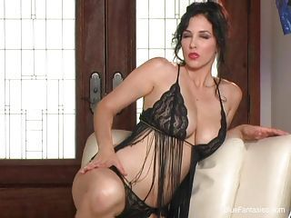 Erotic slut Jelena Jensen looking hot and sexy on a lacy lingerie