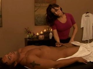 Brunette Handjob Massage MILF
