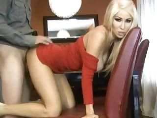 Awesome doggy-style with amazing blonde's tight professional cunt