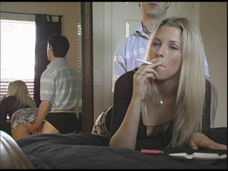 Smoking blonde getting fucked