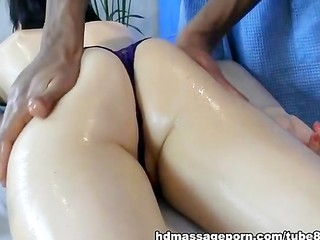 Ass Massage Oiled Panty