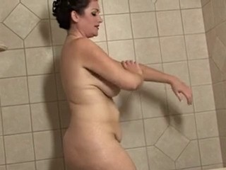 Bathroom Big Tits Chubby Mature