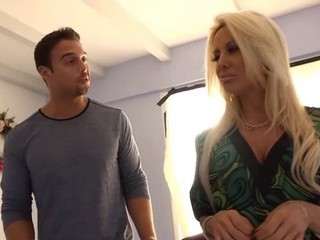Gorgeous blond mommy fucked at her house