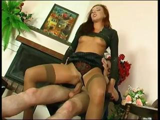 A Horny Redhead Bitch Gets Her Russian Ass Filled With Cock