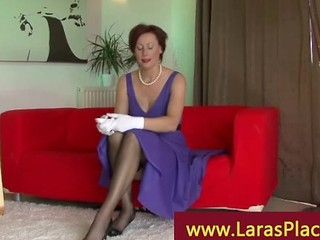 Classy Mature Woman On Erotic Call Massaging Her Vagina