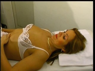 Brunette Doctor Lingerie Mature Uniform