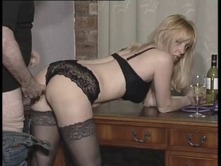 British slut gets gets fucked...