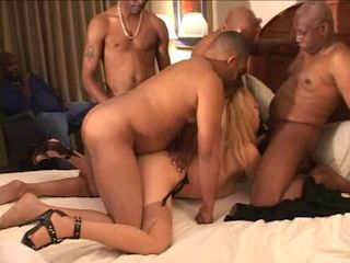 Black insemination strip bang