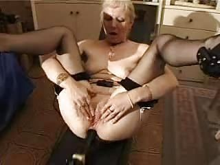french shaved blonde granny pt11