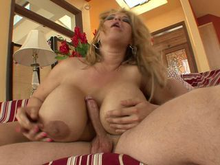 Crystal Storm MILF slut with enormous tits gets banged good