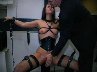 Bondage sluts pussy fingered and