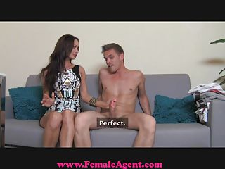 Femaleagent. Milf Exploits Shy Guy In Casting