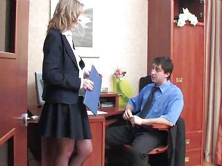 Secretary Delivers Her Asshole F...